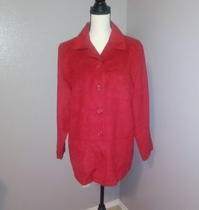 Coaco new York red suede jacket